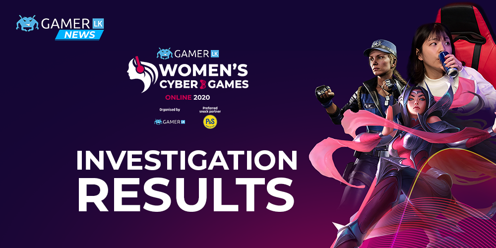 Women's Cyber Games '20 investigations
