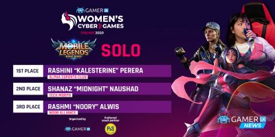 AEC Kalesterine crowned the Mobile Legends Solo Champion of the Women's Championship, TM Midnight comes 2nd and nA noory comes in 3rd