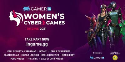 Sri Lanka's female Esports athletes come together to compete in the Women's Cyber Games '21